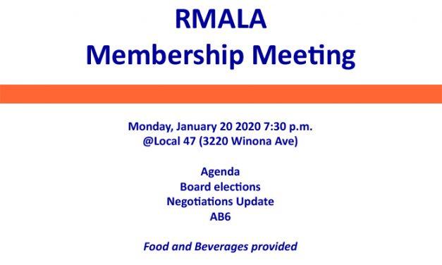 RMALA Membership Meeting